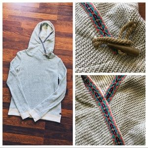 Roxy Woven Hoodie Pullover w Colorful Tribal Trim